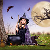 2018 Oct 27  Ava the Good Witch making a brew.