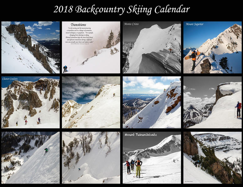 2018 Backcountry Skiing Calendar