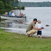 PHOTOS BY JENN SMITH — THE BERKSHIRE EAGLE <br /> At least three generations of fishermen were spotted at Saturday's Harry A. Bateman Memorial Jimmy Fund Fishing Derby in Pittsfield.