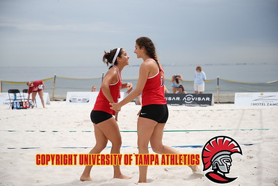 3/2/2018; St. Petersburg, Fla.; University of Tampa beach volleyball at Eckerd Tournament