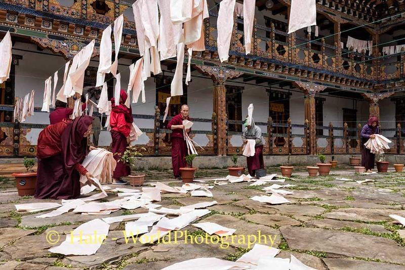 Collecting Printed Mantras at Pema Choling Nunnery