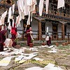 Collecting Printed Mantras at Pema Choling Nunnery