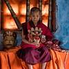 Ngatshang Monastery Young Monk Posing