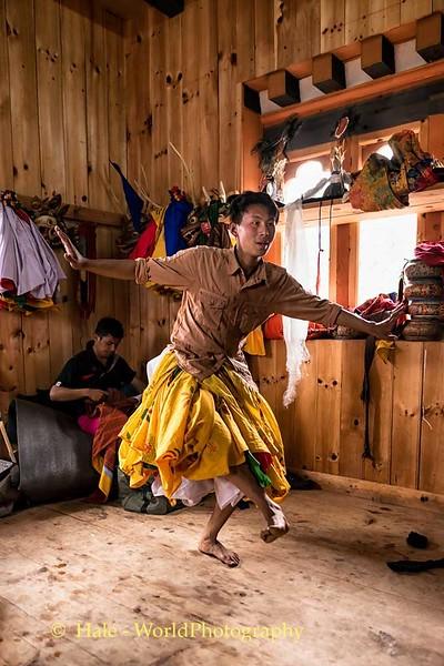 Dancer Preparing to Perform