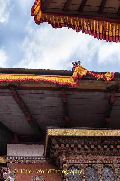 Hanging Bunting at Punakha Dzong