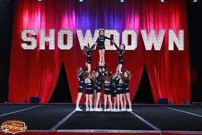 Black Widow Cheer Gym Fireworks Youth Medium 1