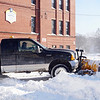 Robert Bursey  of Dracut is the plow guy at St Louis school in Lowell. (The Sun / Chris Tierney)