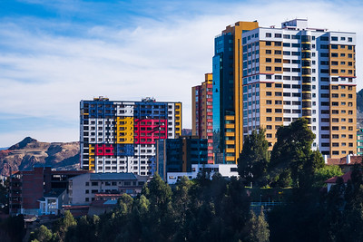 La Paz is the world's highest capital city, at an average elevation of 3650 m. Its colorful buildings fill a valley surrounded by the altiplano.