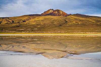 In the rainy season, Salar de Uyuni is famous for its reflections. The rains were late this year, but our guide led us to this spring-fed cove.
