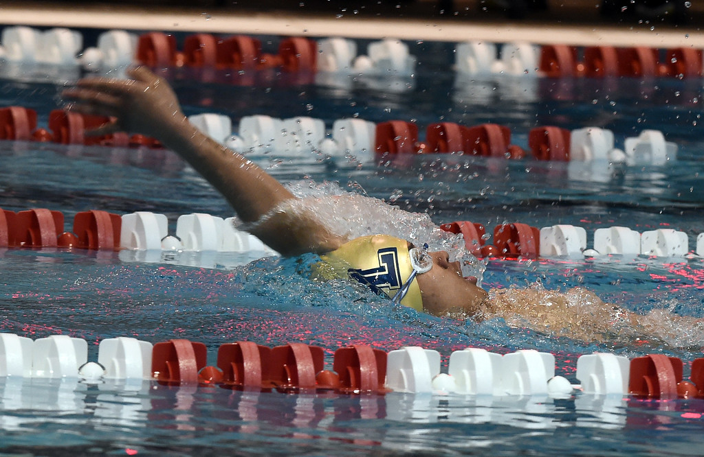. Nicholas Torres, of Legacy,  competes in the 200 yard IM during the 2018 Boys\' Mustang Invitational in Thornton on Saturday. For more photos go to BoCoPreps.com. Cliff Grassmick  Photographer  April 21, 2018