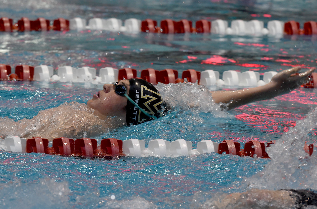 . Christopher Jewitt, of Monarch, competes in the 200 yard IM during the 2018 Boys\' Mustang Invitational in Thornton on Saturday. For more photos go to BoCoPreps.com. Cliff Grassmick  Photographer  April 21, 2018