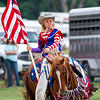 Dakota Murphy trots on her horse prior to the start of Saturday's second annual Buckin' For Wishes rodeo in Altamont.<br /> Keith Stewart Photo