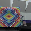 Rainbow Bargello quilt by John Putnam.  Made using a kit purchased at Craftsy.