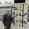 Jackie Borszich's quilt was chosen as the first place winner in the guild challenge.
