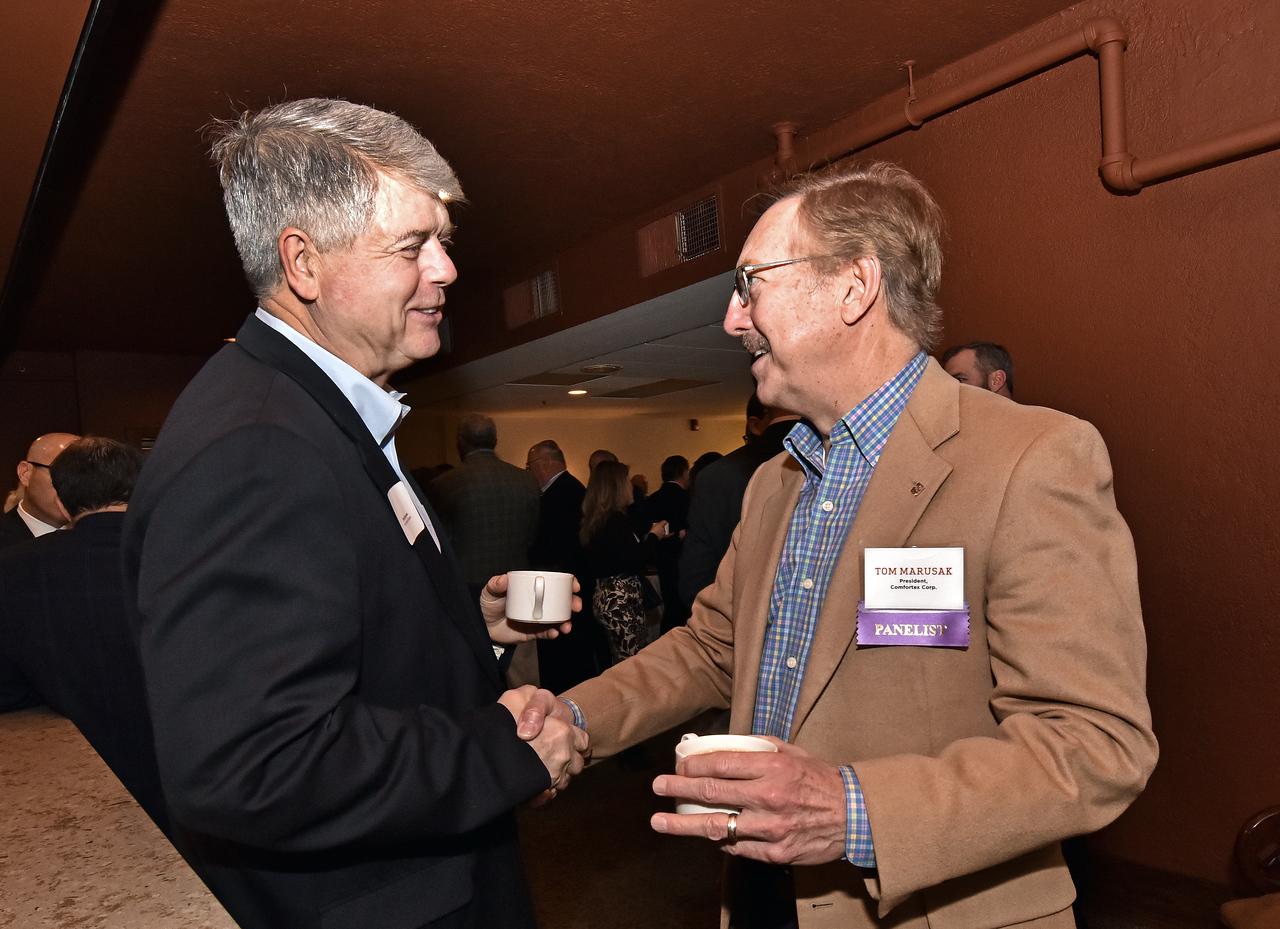 Dave Barcomb and panelist Tom Marusak