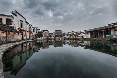 HONGCUN VILLAGE, MOON POND - 4023
