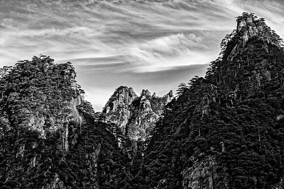 HUANGSHAN-YELLOW MOUNTAIN-3952BW