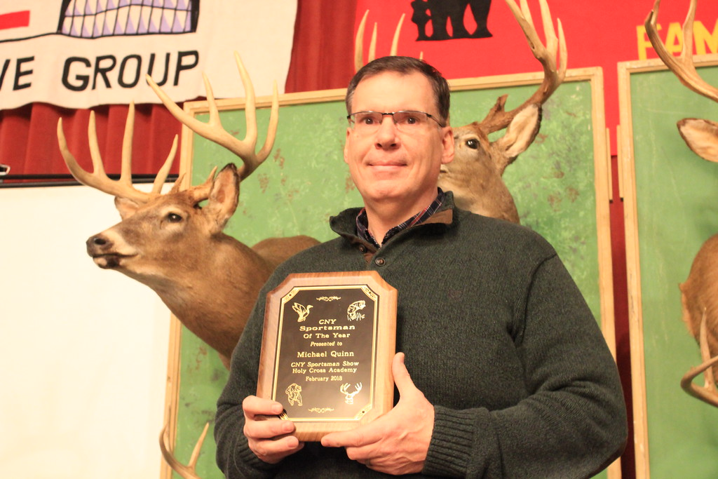 . Charles Pritchard - Oneida Daily Dispatch CNY Sportsman of the Year Michael Quinn was surprised to learn he won he award this year and was nominated for his work as model for anyone concerned with the stewardship of the environment on Feb. 3, 2018