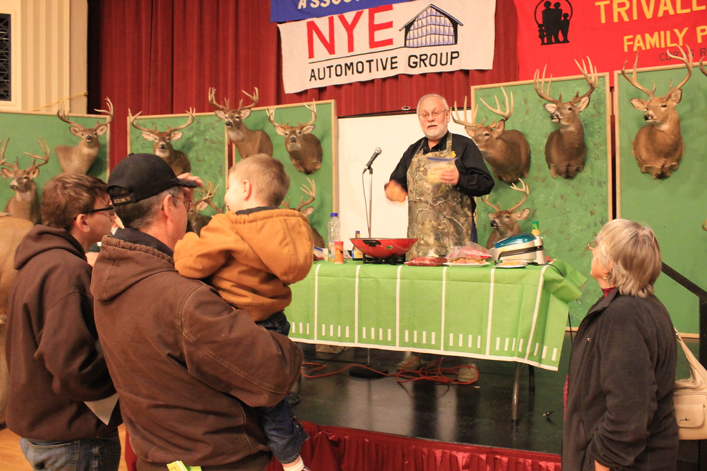 . Charles Pritchard - Oneida Daily Dispatch New York State Outdoorsmen Hall of Famer Steve Wowelko shows the crowd just how to cook wild game, from pheasant stir fry to Cajun bass on Feb. 3, 2018