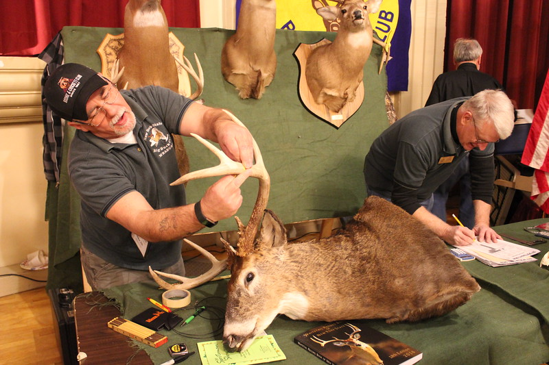 Charles Pritchard - Oneida Daily Dispatch Mike Ali and Brian Dam are Official Measurers with the New York State Big Buck Club and are looking for the largest  unscored NY State buck entry on Feb. 3, 2018