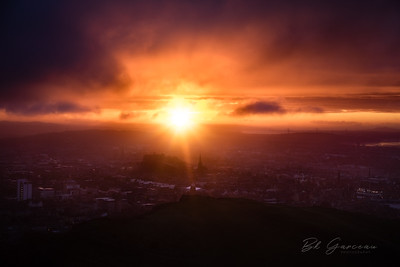 Starburst Sunset over Edinburgh