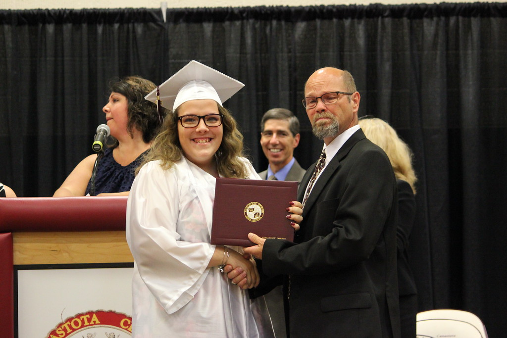 . Charles Pritchard - Oneida Daily Dispatch The Canastota High School Class of 2018 celebrates their graduation on Saturday, June 23, 2018.