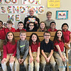 CLASS VISITS—Bishop Edward Rice visited each class during his Catholic School Week visit to St. Mary Catholic School in Joplin on Jan. 29. Here he is with  Mrs. LeeAnn McAtee's 2nd graders. (<i>The Mirror</i>)