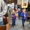 CATHOLIC SCHOOLS WEEK 2018—Students in St. Teresa School , Glennonville, MO, recessed out of church at the launch of CSW 2018 on Jan. 28, 2018. (<i>The Mirror</i>)