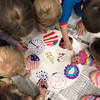 PATRIOTISM—One of the themes of Catholic Schools Week is Celebrating the Nation. Students in St. Teresa School, Glennonville, made crafts communicating the value of Catholic education to government leaders and the US. (<i>The Mirror</i>)
