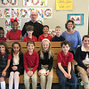 CLASS VISITS—Bishop Edward Rice visited each class during his Catholic School Week visit to St. Mary Catholic School in Joplin on Jan. 29. Here he is with Mrs. Debi Staton's fourth grade class. (<i>The Mirror</i>)