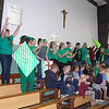 ASSEMBLY—St. Mary Catholic School Jaguars in Pierce City celebrated their Catholic identity during Catholic Schools Week 2018. (<i>The Mirror</i>)