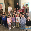 CLASS VISITS—Bishop Edward Rice visited each class during his Catholic School Week visit to St. Mary Catholic School in Joplin on Jan. 29. Here he is with Pre-school and pre-K students. (<i>The Mirror</i>)