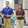 SCHOOL MASS—Notre Dame Regional High School seniors Vincent Landewee and Tammy Le in Cape Girardeau, MO, brought up the offertory during the annual school Mass held Feb. 2 with Bishop Edward Rice during Catholic Schools Week. (<i>The Mirror</i>)
