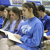 LITURGY OF THE WORD—Notre Dame Regional High School students in Cape Girardeau, MO, participated in the liturgy Feb. 2 with Bishop Edward Rice during Catholic Schools Week 2018. (<i>The Mirror</i>)