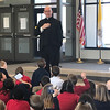 VOCATIONS—Bishop Edward Rice gave a talk on his vocation to the priesthood and his role as Bishop on Jan. 29 to the preschool and kindergarten classes at St. Mary Catholic School in Joplin during Catholic Schools Week 2018. He was also the principal celebrant at the all-school Mass held in St. Mary Church for Joplin Area Catholic School students. (<i>The Mirror</i>)