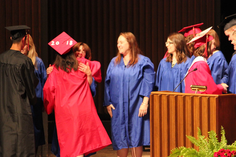 Charles Pritchard - Oneida Daily Dispatch The Chittenango High School Class of 2018 celebrates their graduation at the John H Mulroy Civic Center in Syracuse on Friday, June 22, 2018.