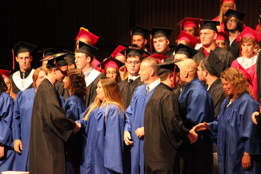 . Charles Pritchard - Oneida Daily Dispatch The Chittenango High School Class of 2018 celebrates their graduation at the John H Mulroy Civic Center in Syracuse on Friday, June 22, 2018.