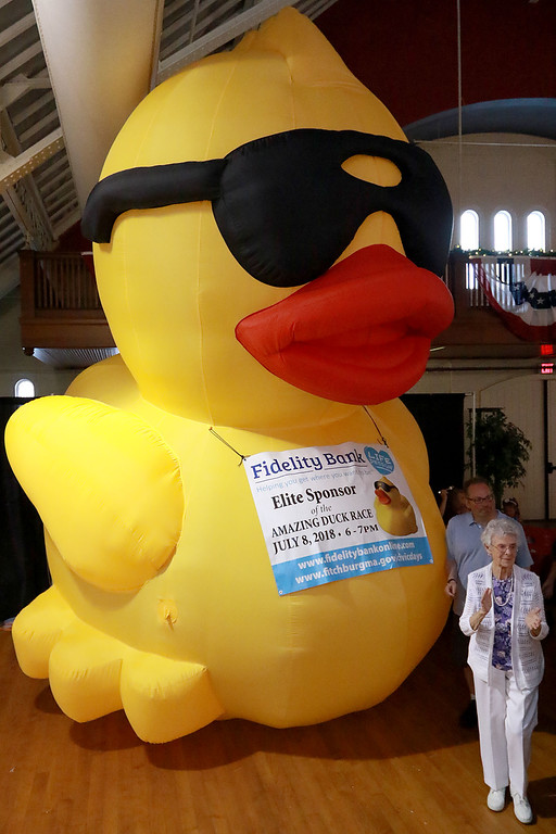 . The Annual Civic Days kick off celebration and appreciation was held at the Fitchburg Senior Center on Wednesday afternoon. This is the celebration were they pick the king and queen of Civic Days. Entertaining the crowd at the event was the Vinny Prendergast & the Sons of Blarney band. The city\'s big duck was on had to help with the celebration. SENTINEL & ENTERPRISE/JOHN LOVE