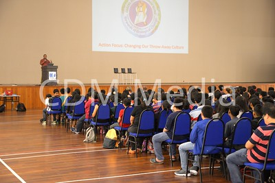 Talk on Ecological Steward by Dino to Secondary School children