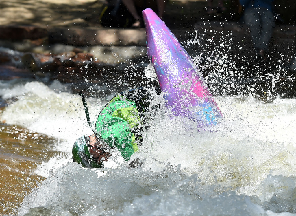 . Nick Troutman competes with the pros in freestyle at the 2018 Colorado Burning Can Fest at the Lyons Outdoor Games. For more photos, go to dailycamera.com. Cliff Grassmick  Staff Photographer  June 2, 2018