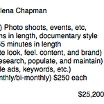 2015 Plan for Alena Chapman