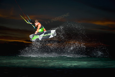 2019 Crazyfly Raptor Pro LTD Neon Kiteboard Jump Air Pic