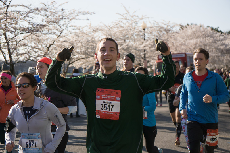 2018 Credit Union Cherry Blossom Mid-pack On Course - Photos by Bob Burgess
