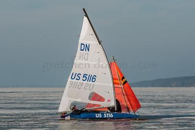 2018 DN NAs Iceboat Champion ships Lake Charlevoix