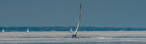 2018 DN NAs Iceboat Championships Lake Charlevoix