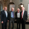 Drs. Steven Hyman, James Watson and Eric Kandel with Ed Rover
