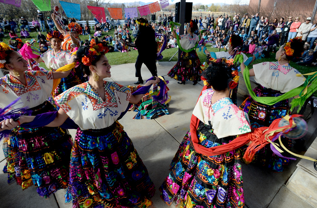 . LONGMONT, CO - November 3, 2018:  Fiesta Colorado Dance Company entertained at the celebration today. Longmont�s annual Día de los Muertos celebration is the Longmont Museum�s signature event and the largest Day of the Dead celebration in Colorado, attracting more than 6,000 people to the event.  (Photo by Cliff Grassmick/Staff Photographer)