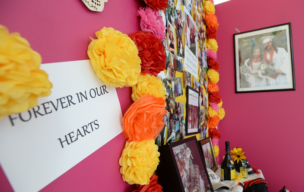 . LONGMONT, CO - November 3, 2018: One of the family alters honoring a family.  Longmont�s annual Día de los Muertos celebration is the Longmont Museum�s signature event and the largest Day of the Dead celebration in Colorado, attracting more than 6,000 people to the event.  (Photo by Cliff Grassmick/Staff Photographer)