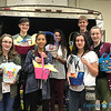 SERVICE PROJECT—Attendees at the 25th annual Diocesan Youth Conference March 23-25 brought baskets, candy, and non-perishable food items, in order to put together close to 100 Easter baskets that were delivered to Samaritan Outreach Center in West Plains. (Photo by Margie Black/<i>The Mirror</i>)