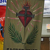 BANNERS—Each of the 25 parishes represented at the Diocesan Youth Conference designed and created a banner for DYC. (Photo by J.B. Kelly/<i>The Mirror</i>)